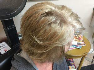 Short blonde bob cut